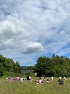 powerscourt springs energising outdoor yoga