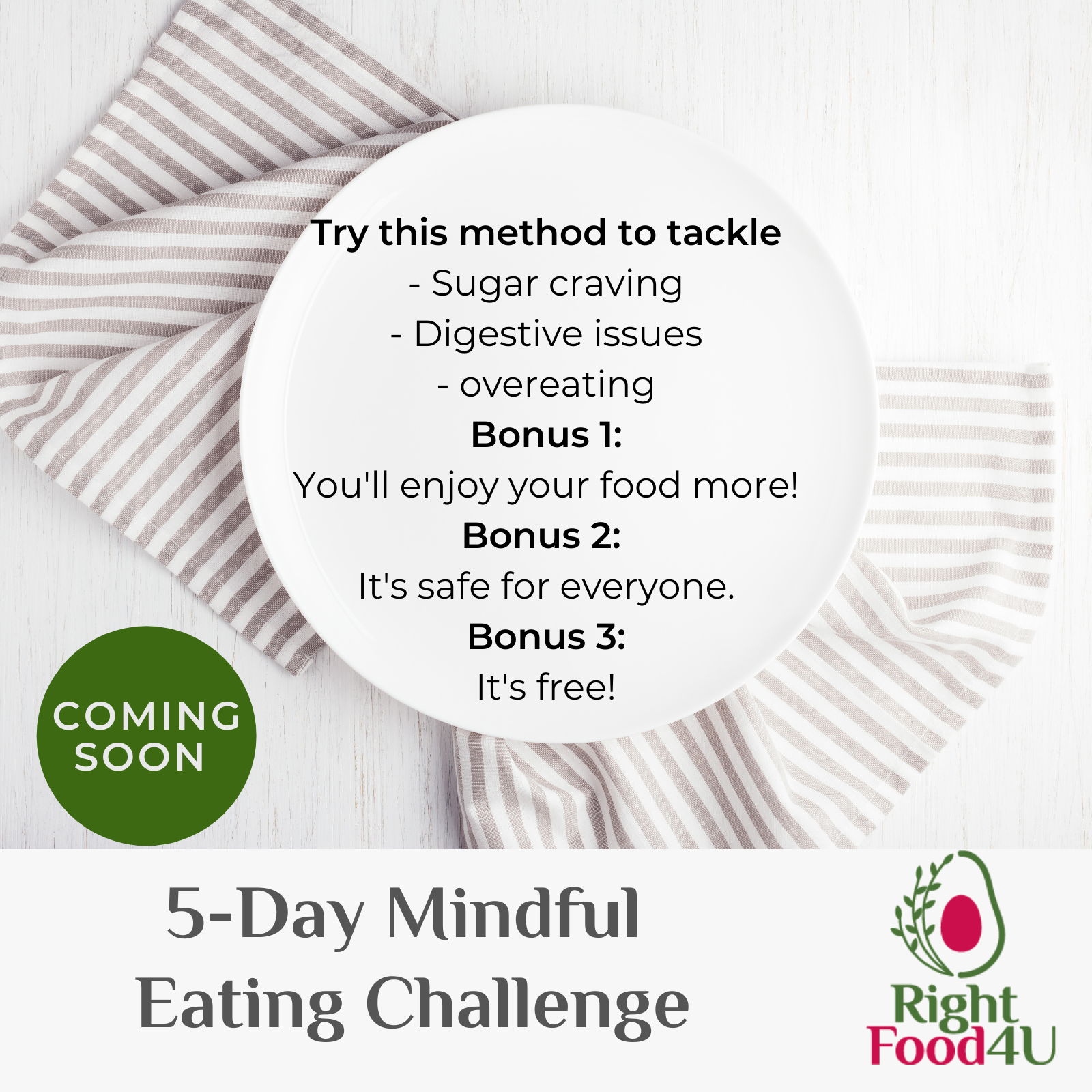 mindful eating to deal with sugar cravings